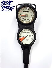 Sopras Sub Spg 3 Gauge Console With Depth Gauge Compass Imperial Psi With Hose