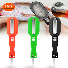 3pcs Fish Scales Skin Remover Knife Fast Cleaner Home Kitchen Clean Tools Us