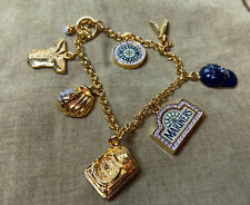 7 Charms Gold Tone Pretty Mariners Charm Braclet