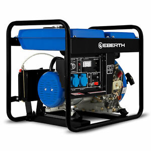 EBERTH 3kW E-Start Diesel Stromerzeuger Notstromaggregat 1-PhaseB-Ware
