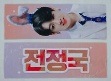 BTS JungKook red reflective fansite slogan +5 stickers+3 photocards