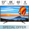 "Sceptre 55"" Inch 4K Ultra HD 2160p 60Hz LED LCD TV w/ 4 HDMI U550CV-U - NEW"