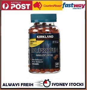 Kirkland IBUPROFEN (500 tabs) 200mg Pain Reliever Nurofen generic FAST POST