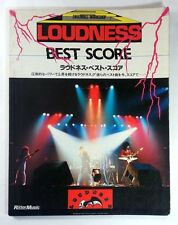 LOUDNESS BEST BAND SCORE JAPAN GUITAR TAB