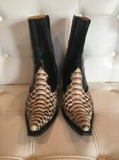 El Buitre Woman's Cowboy Boots In Exotic Python Size 8-8.5