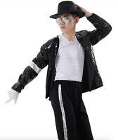 vestito Michael Jackson completo Billie Jean costume carnevale abito cosplay NEW