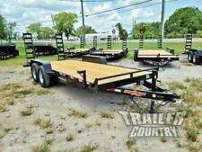 New 2020 7 X 20 14K Heavy Duty Flatbed Wood Deck Equipment Trailer w/ Ramps