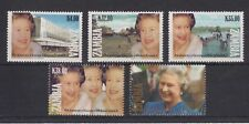 QEII 1992 40th Anniversary Accession MNH Stamp Set Zambia SG 687-691