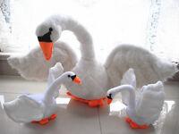 NEW White Soft Cute Swan Plush Toys Animal Stuffed Animal Doll Kid Birthday Gift