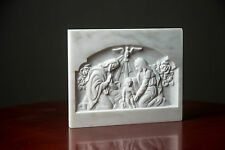 Nativity scene Virgin Mary Joseph Jesus relief carved  MARBLE sculpture bust