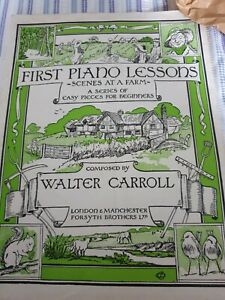 First Piano Lessons Scenes at a Farma easy pieces for beginners Walter Carroll