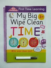 My Big Wipe and Clean first time learning telling time book with wipe- clean pen