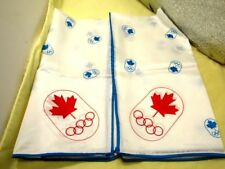 2  Montreal Canada 1976  Olympic Souvenir Scarf Vintage #78 Blue White Limited