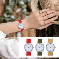 Men Male Casual Fashion Nylon Strap Analog Quartz Watch Business Wristwatch Gift