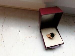 Goldring 585er Gold 18,5 Mit Onyx