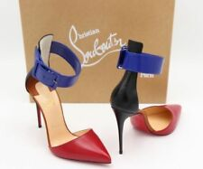 Christian Louboutin Women's 100% Leather Strappy, Ankle Straps Heels for Women