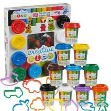 22 Piece Play Dough Craft Gift Set Tubs & Shapes Children Toys Hobby