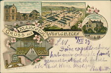 Ansichtskarte Mannheim Wohlgelegen Fabrik Kantine 1899 (Nr.947)