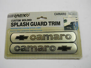 NOS Vintage Camaro Custom Splash Guard Trim Distinctive Custom Label