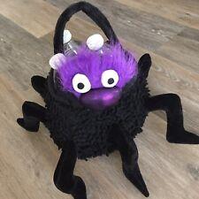 NEW Plush Spider Halloween Treat Bag Pail