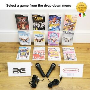 Nintendo Wii Games - Multi-Listing - Select a Game - We Sing Abba Microphone etc