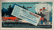 More details for vintage american express advertising card (lutz & shienkman) 1924