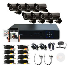 8PCS HD AHD 1300TVL Outdoor 8CH 960H DVR Home CCTV Security System IR-CUT Camera