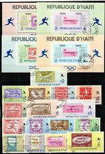 """Petite collection de timbres et blocs comme thème le """"SPORTS"""" - cote 60,00 euros"""
