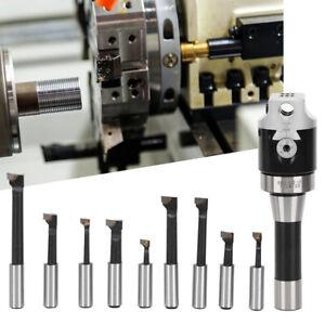 "9pcs Boring Head Bar Set 2"" Countersunk Head with R8 Handle CNC Milling Tool Kit"