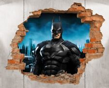 Batman Brick Wall Decal 3D Art Stickers Vinyl Room Home Bedroom