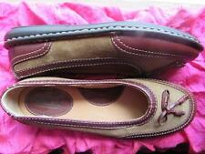 BORN SHOES RUSTY  BROWN LEATHER/SUEDE BALLET FLATS W LOGO !SIZE 8 M /39 !