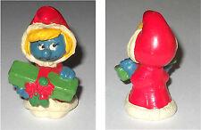 PUFFETTA NATALIZIA con regalo Smurfette Santa Claus 20153 Hong Kong 1981 2A