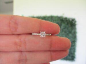 .35 CTW Diamond Engagement Ring 14k White Gold ER481 sep