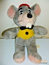"Chuck E Cheese Mouse Plush 17"" Doll Toy ShowBiz Pizza Time Stuffed Animal 1988"