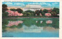 Postcard Reflections Lincoln Memorial Washington DC