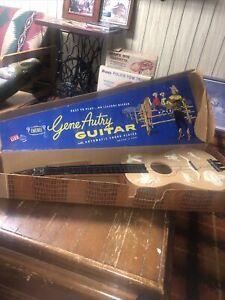 Vintage Emenee Gene Autry Guitar w/ Box Cowboy Western Music Toy