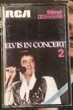 RARE K7 AUDIO ELVIS PRESLEY IN CONCERT 2 RCA ITALY PRESS 1977 SIAE BE+