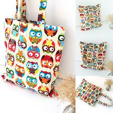Stylish Women Owl Canvas Shoulder Bag Satchel Crossbody Tote Handbag Messenger