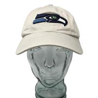 Reebok Seattle Seahawks Baseball Cap Hat NFL Cotton Beige OSFM Strap Back