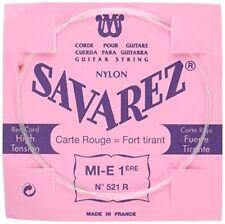 Savarez 521r Rouge Carte Rectifié Nylon Haut tension Classique Guitare Simple