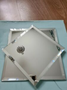 Set of Mirrored Candle Trays by Partylite Table Decoration 🕯