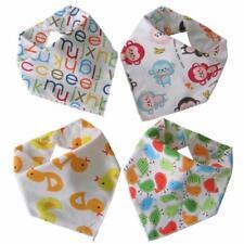 Baby Bandana Dribble Bibs (Unisex 4 Pack) teething drool burp shower gift babies