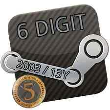 Steam Account * 6 Digit / 6 stellig * 13 Jahre / Years * 2003 + Original E-Mail