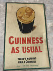 Original Antique Guinness Beer Cloth Fabric Advertising Nothing Like A Guinness