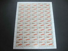Barbuda 1968 Fishes $1 MNH Complete Full Sheet Cyl 1A-1A #S20