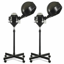 1/2 Pcs Hair Steamer Rolling Stand Color Beauty Salon Spa Equipment Black