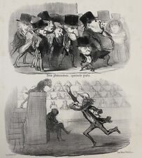 Honore Daumier France 1808 -1879 Lithograph Physiognomic Le Charivari 1850
