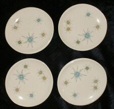"""4 UNUSED MCM Atomic Franciscan Starburst 6.5"""" BREAD PLATES Excellent Early Mark"""