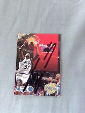 Shaquille O'Neal HAND SIGNED 1992 Skybox Card Rookie 💯% GENUINE w/COA Stock #02