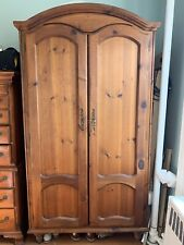Large Solid Wood Armoire